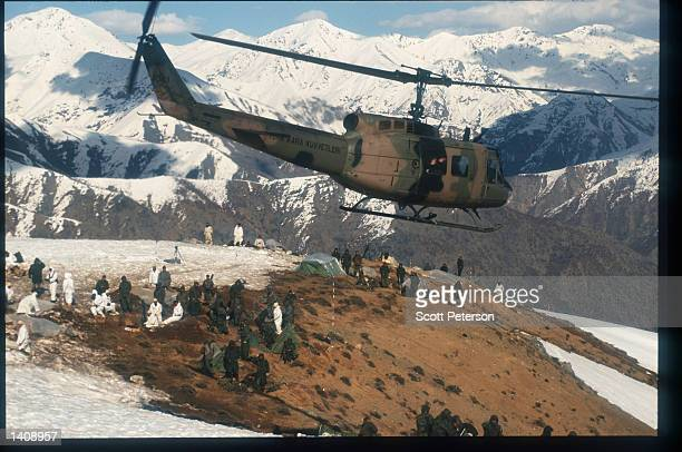 Turkish troops use a helicopter April 16 1996 near the Iraq/Turkey border Efforts by the Kurds to achieve autonomy or independence for the region...