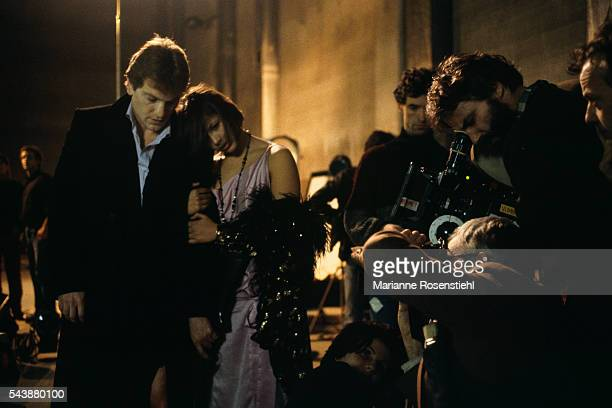 Turkishborn French actor Tcheky Karyo French actress Sophie Marceau and her husband Polish director screenwriter and writer Andrzej Zulawski on the...