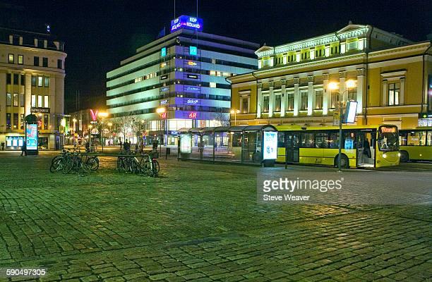 Turku Market Square at Night Finland
