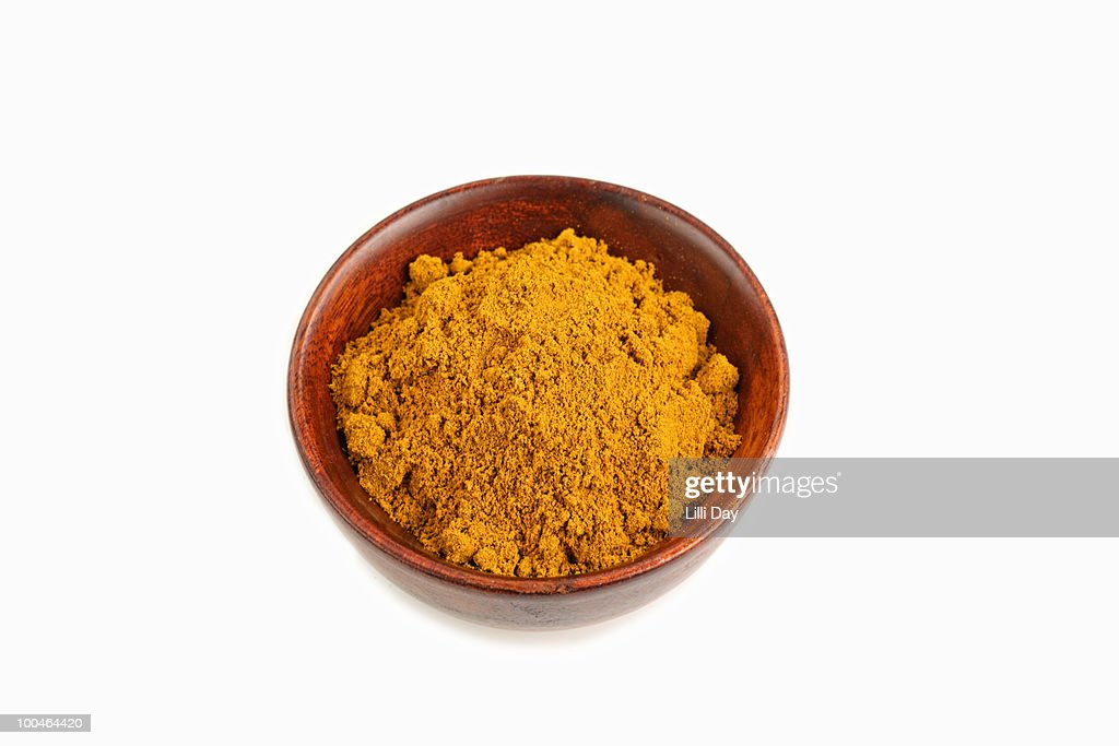 Turmeric or Curry Spice on White Background