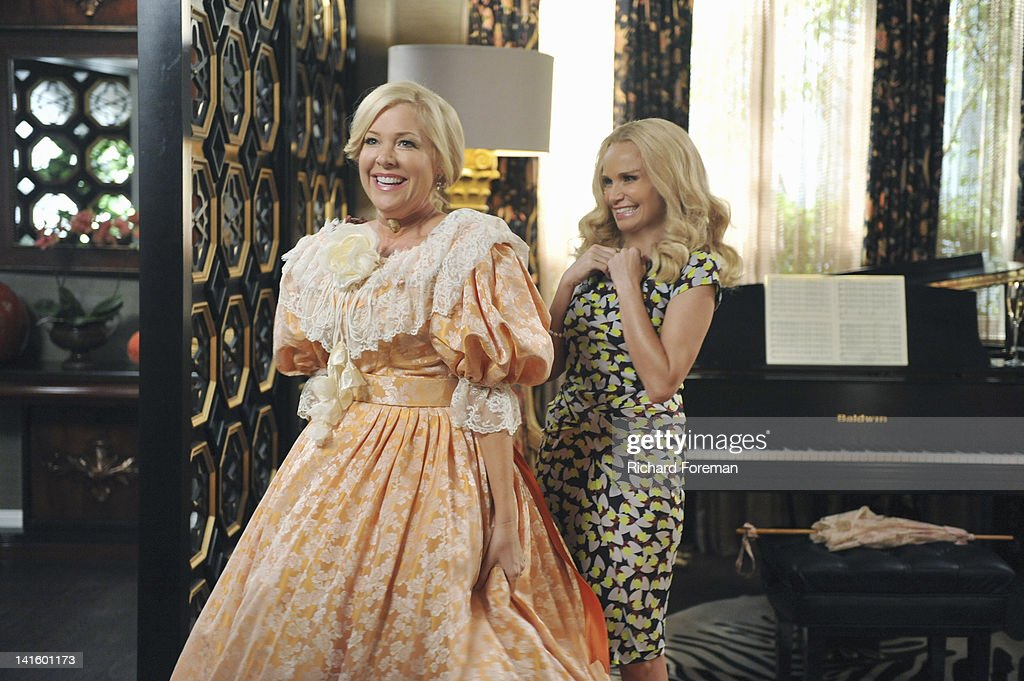 GCB - 'Turn the Other Cheek' - When Luke convinces Carlene to take the Matron of Honor duties away from Sharon and give the honor to Amanda for her 'Gone with the Wind'-themed renewal of marriage vows, Sharon is out for blood. Carlene tries to turn the other cheek and accept Amanda, while Amanda is overwhelmed with her new duties. Meanwhile, Heather seeks forgiveness from the GCBs, and Blake surprises Cricket with a special request, on 'GCB,' SUNDAY, APRIL 8 (10:01-11:00 p.m., ET) on the ABC Television Network. CHENOWETH
