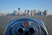 Binoculars without focus of the city of New York