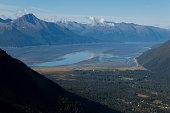 Turnagain Arm from Alyeska Ski Resort, Girdwood, AK