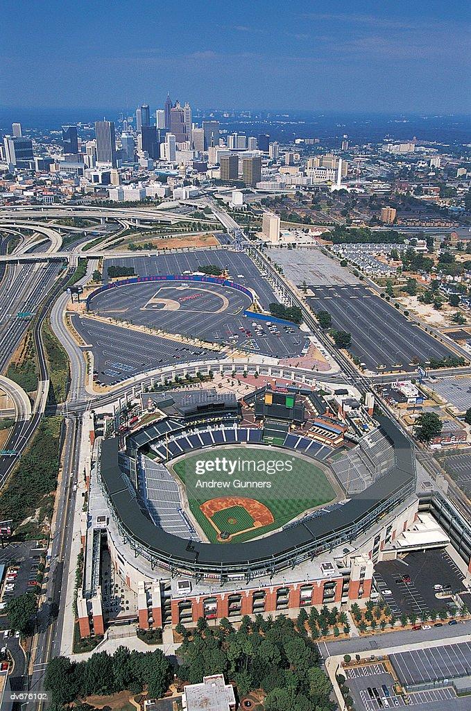 Turner Field, Atlanta, Georgia, USA : Stock Photo
