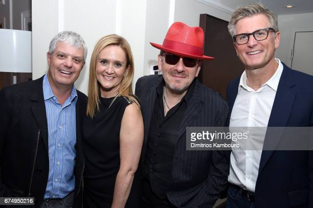 Turner President David Levy Samantha Bee Elvis Costello and TBS chief creative officer Kevin Reilly attend Full Frontal With Samantha Bee's Not The...