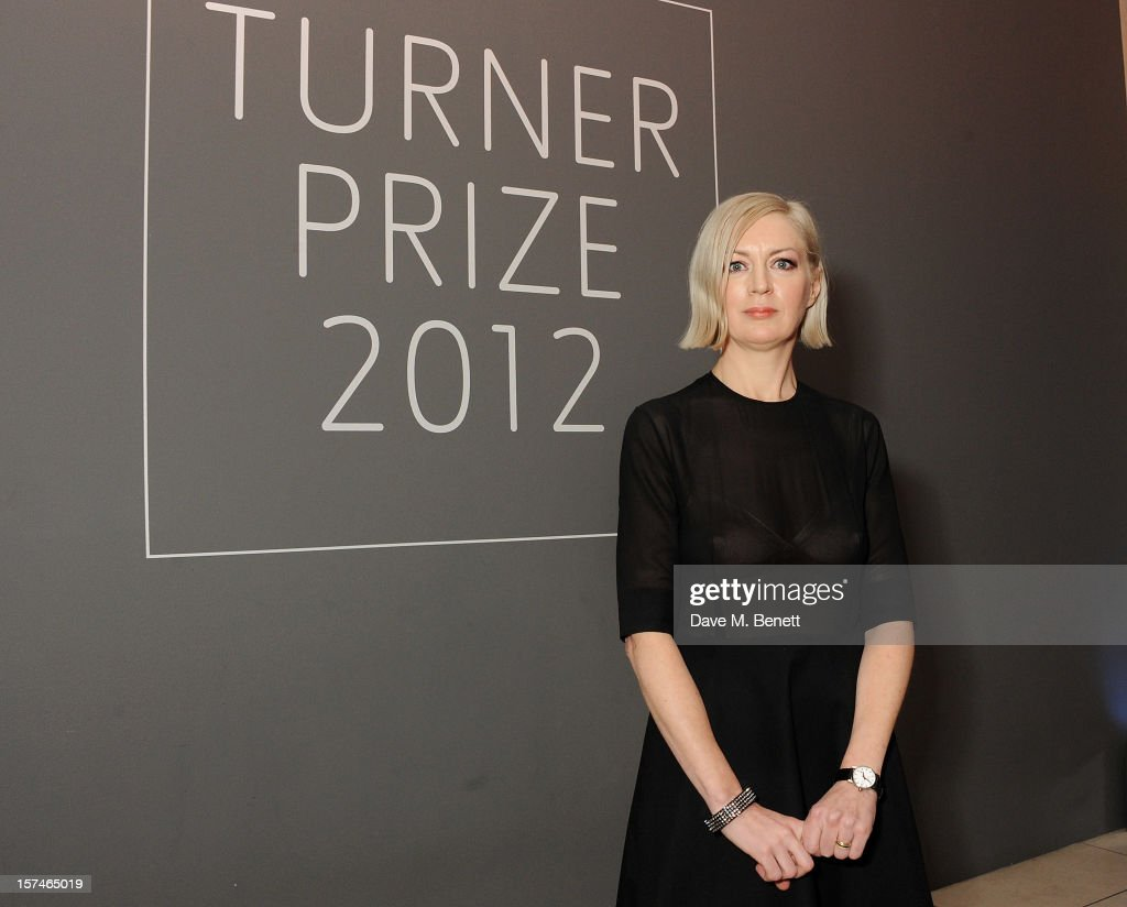 Turner Prize 2012 winner Elizabeth Price poses at the Turner Prize 2012 winner announcement at the Tate Britain on December 3, 2012 in London, England.