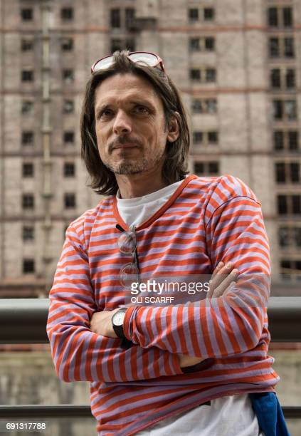 Turner Prize winning artist Jeremy Deller poses for a photograph during the launch of the celebrations for the 50th anniversary of the release of the...