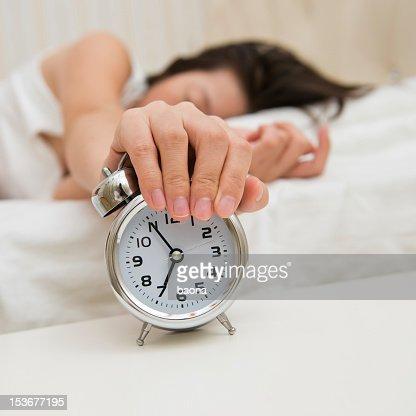 turning off alarm clock