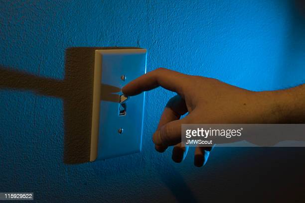 Turning off the lights with finger