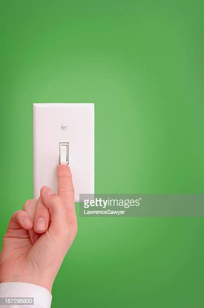turning on and off the light switch