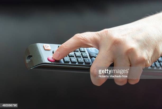 Turning on or turning off a television TV set using a control remote