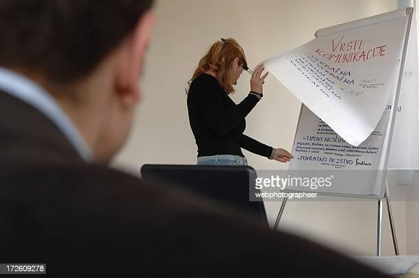 turning Papier im business-training