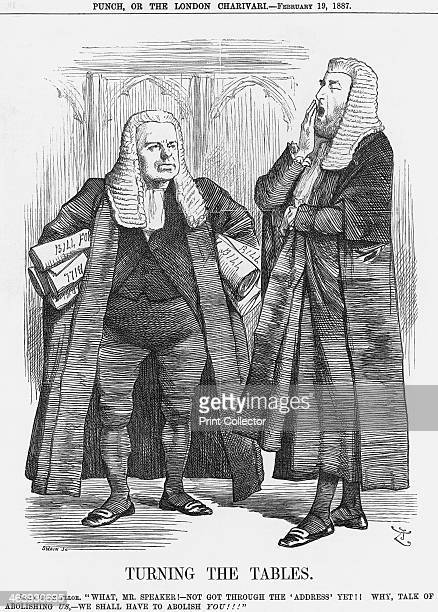'Turning the Tables' 1887 The Lord Chancellor yawns as he queries why the House of Commons is not getting on with its business If this goes on he...