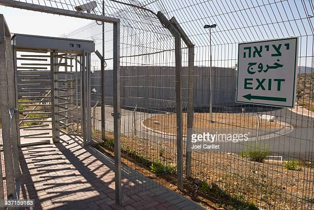 Turnstile at Bethlehem checkpoint in the West Bank