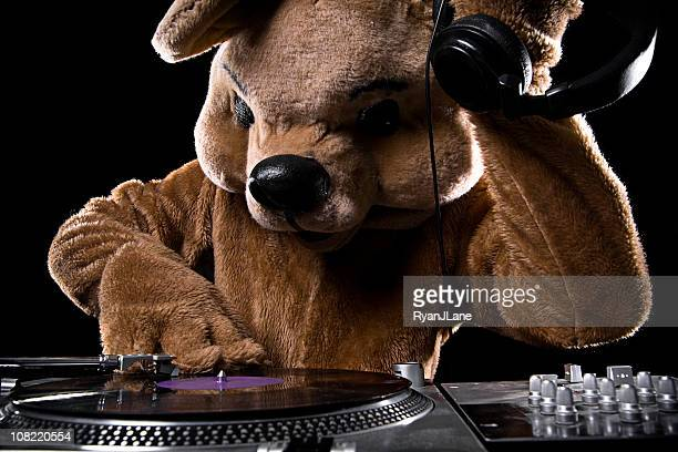 Turntable Bear Costume DJ with Headphones