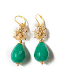 Turqoise faceted jade earrings