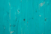 Beautiful turquoise colored wooden background with vertical boards.