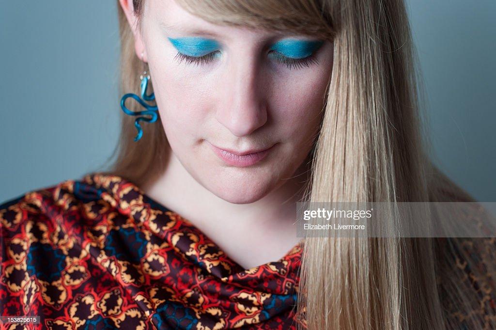 Turquoise Eyes : Stock Photo