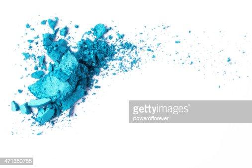 Sombreador de ojos azul turquesa