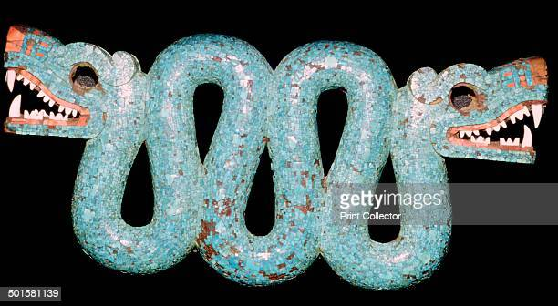 Turquoise mosaic of a doubleheaded serpent Aztec/Mixtec Mexico 15th16th century It is carved in wood and covered with turquoise mosaic This was...