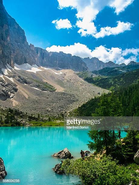Turquoise Sorapis lake