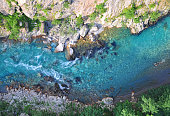 Aerial view of Tara River Canyon, Montenegro