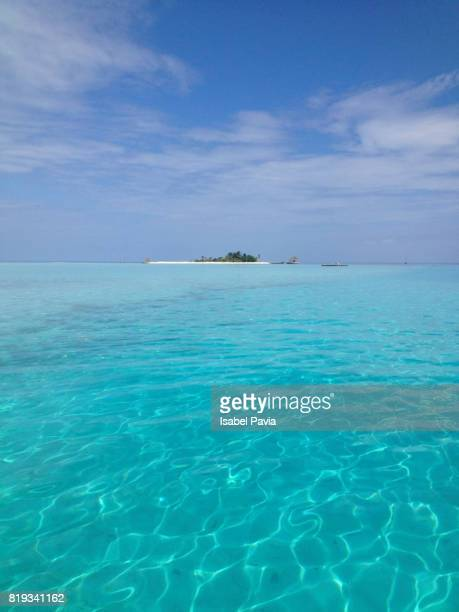 Turquoise water in Maldives Island