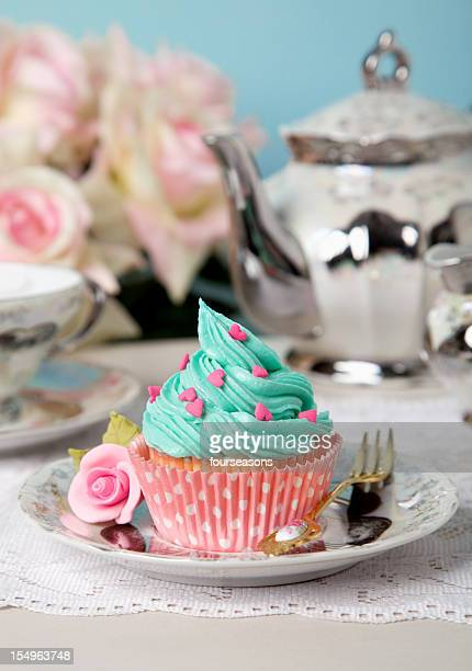 turquouis cupcake