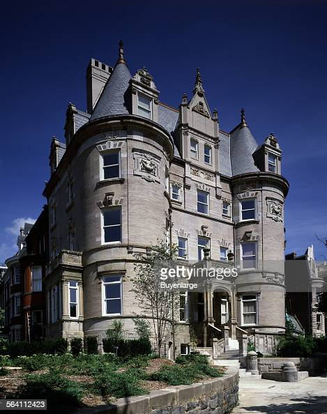 Turreted Apartment Building And Former Mansion Washington D C