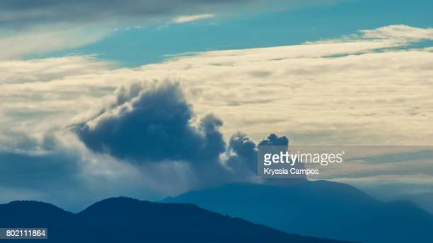 Turrialba volcano at early morning in Costa Rica.