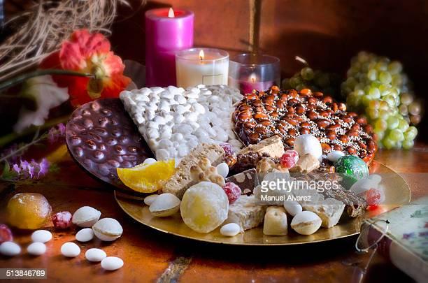 Turron or nougat sweets