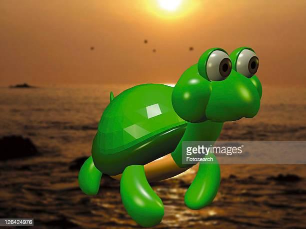 3D, turtle, cartoon, cute, animal