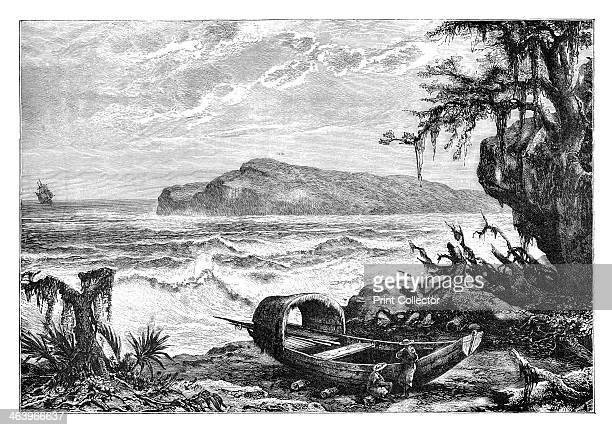 'Turtle Island view taken at the mouth of the Three Rivers' c1890 Possibly Tortuga off the coast of Haiti infamous haunt of pirates From Universal...