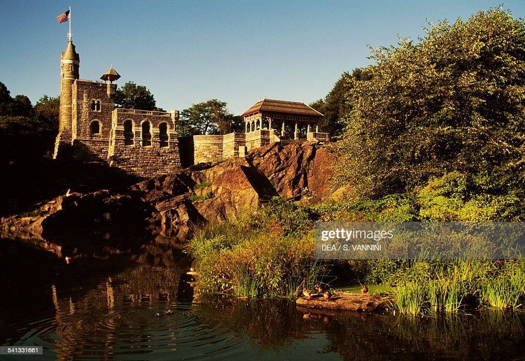 Turtle Pond and Belvedere castle Central Park New York United States of America