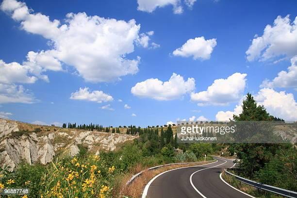 Toscana Strada di campagna (Italia