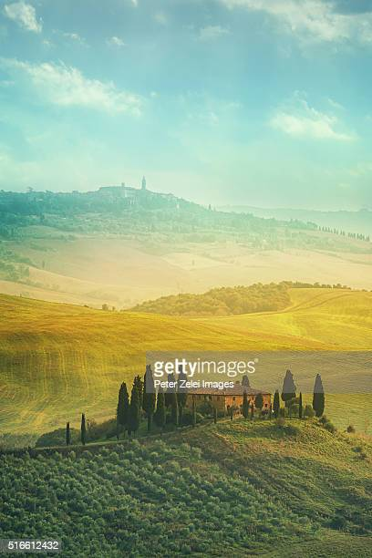 Tuscan landscape, location: Val d'Orcia, Tuscany, Italy.