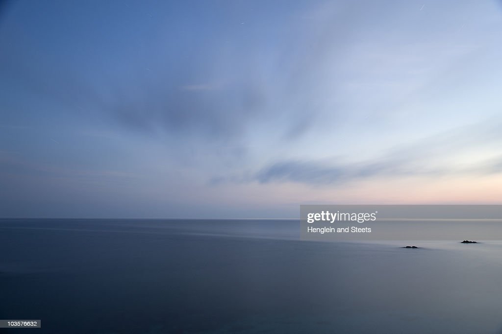Tuscan sea at dawn : Stock Photo