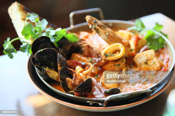Tuscan Seafood Stew is pictured at Osteria Posto in Waltham MA on Mar 21 2016