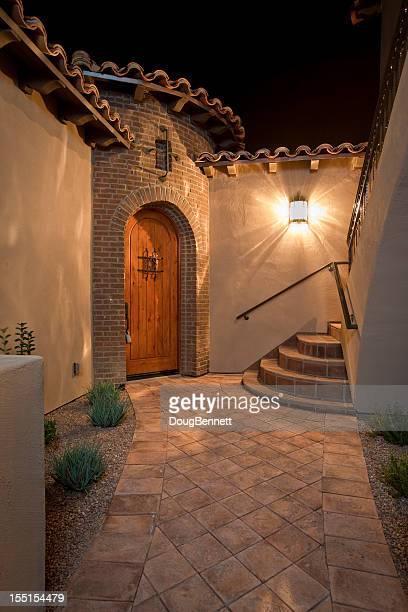 Tuscan Villa Entry Courtyard