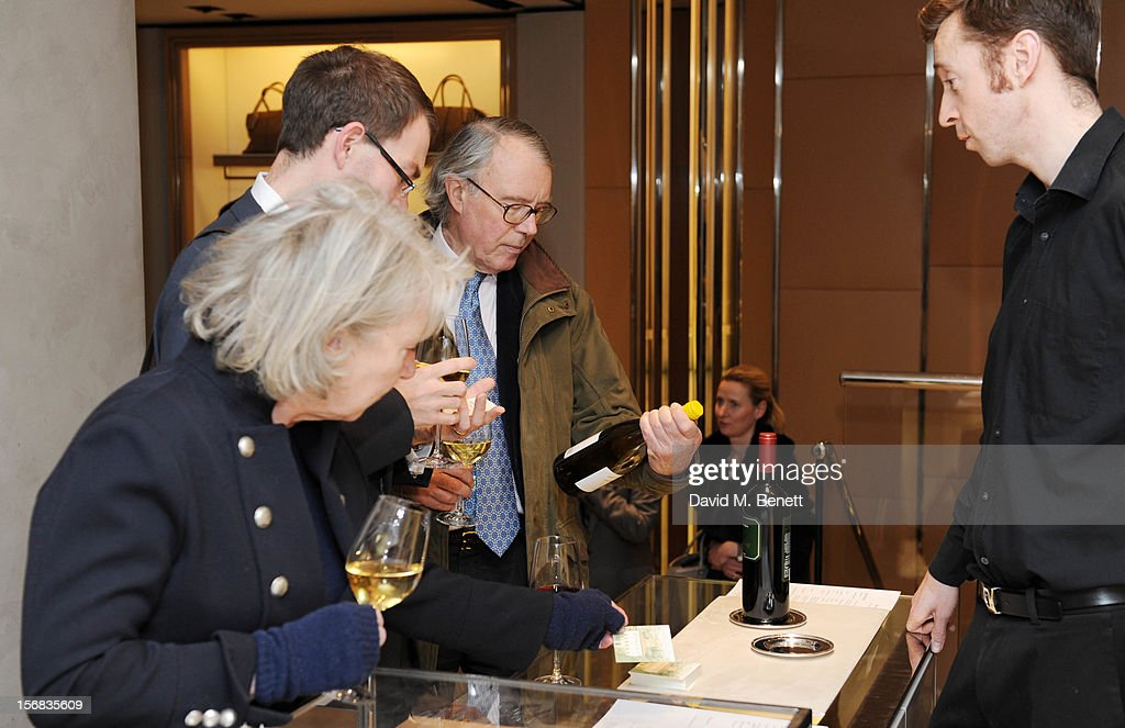 Tuscan Wines from Tenuta di San Fabiano are served duringattends 'Tod's Vendanges on Bond' at the Tod's Bond Street Boutique on November 22, 2012 in London, England.