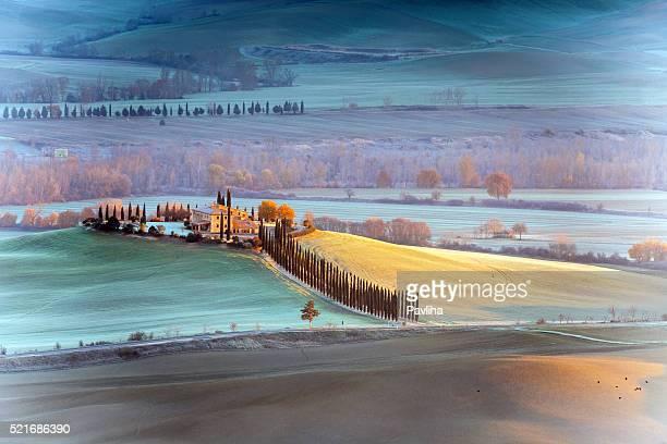 Tuscany farmhouse,morning