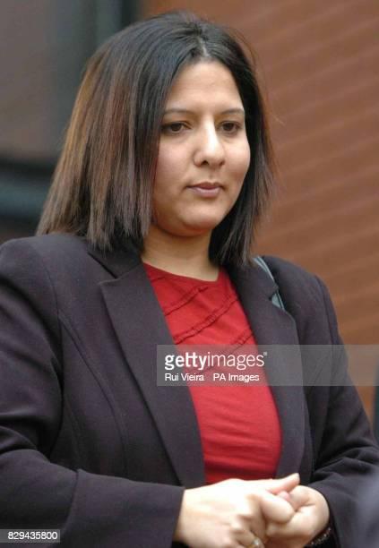 Tushar Makwana's wife Deepika Makwana outside Leicester Crown court