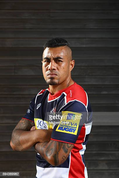 Tusi Pisi poses for a portrait during the Bristol Rugby squad photo call for the 20162017 Aviva Premiership Rugby season on August 23 2016 in Bristol...