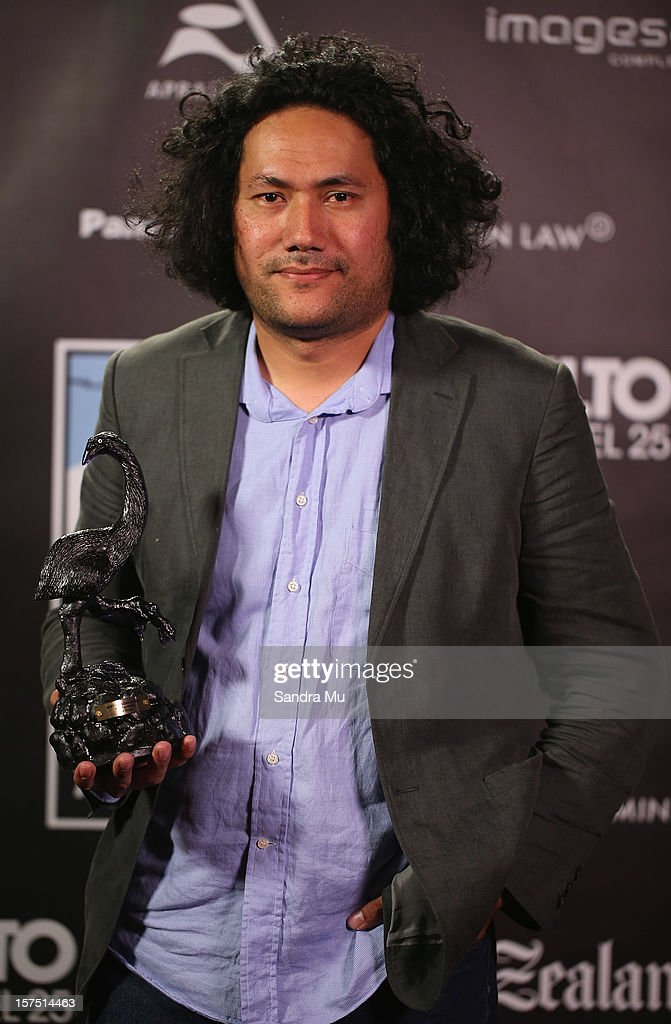 Tusi Tamasese, Director of Orator poses with his award for Best Director during the MOA 'Unofficial' New Zealand Film Awards at The Civic on December 4, 2012 in Auckland, New Zealand.