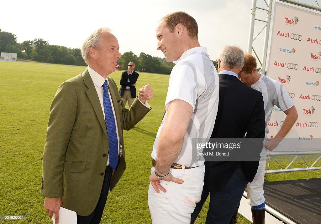 Tusk CEO Charlie Mayhew (L) and <a gi-track='captionPersonalityLinkClicked' href=/galleries/search?phrase=Prince+William&family=editorial&specificpeople=178205 ng-click='$event.stopPropagation()'>Prince William</a>, Duke of Cambridge, attend day one of the Audi Polo Challenge at Coworth Park on May 28, 2016 in London, England.