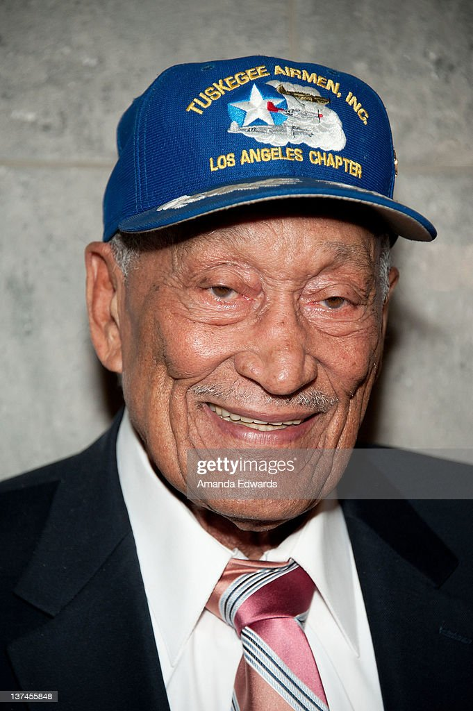 Tuskegee Airman Jerry T Hodges attends the 'Red Tails' VIP opening night screening at Rave Baldwin Hills 15 Theatres on January 20 2012 in Los...