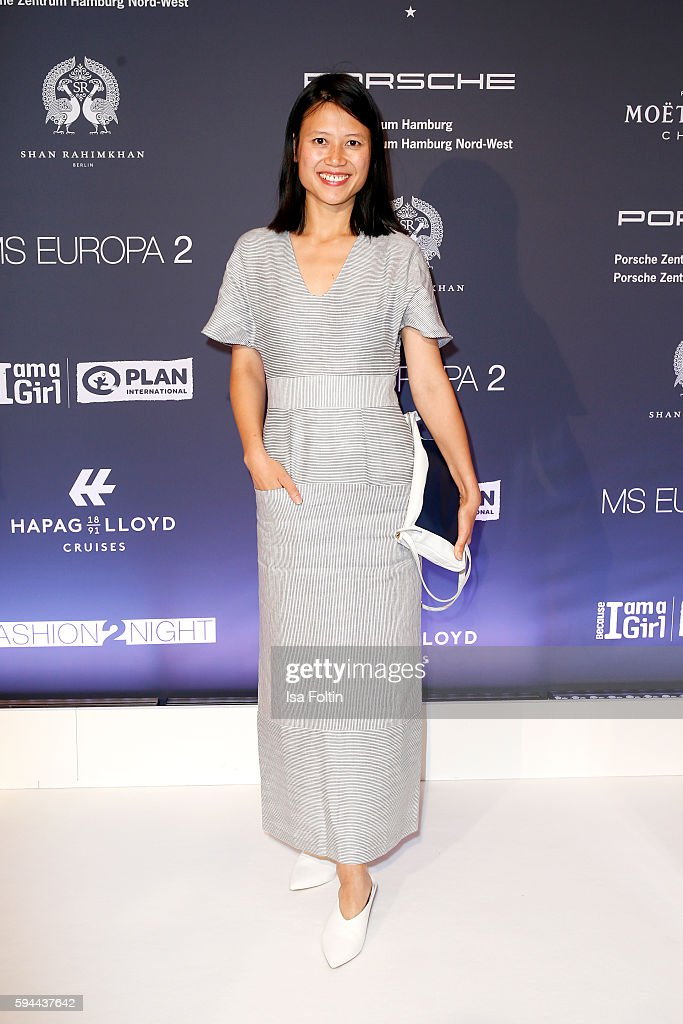 Tutia Schaad fashion designer of the lable Perret Schaad attends the Fashion2Night event at EUROPA 2 on August 23 2016 in Hamburg Germany