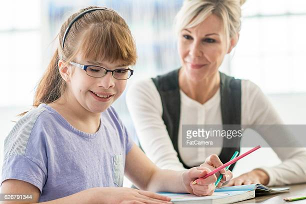 Tutoring a Girl with Visual Impairment