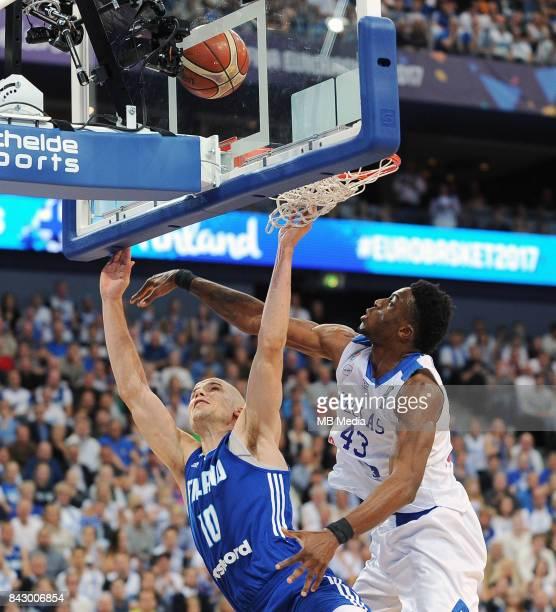 Tuukka Kotti of Finland Thanasis Antetokounmpo of Greece during the FIBA Eurobasket 2017 Group A match between Greece and Finland on September 5 2017...
