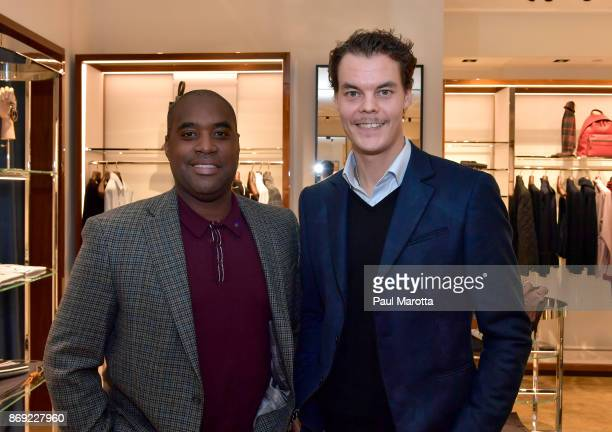 Tuukka Rask attends the Opening of the Salvatore Ferragamo Copley Place store on November 2 2017 in Boston Massachusetts